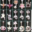 Assorted Crystal Body Jewelry with Free Display - 1 Package of 160 Pieces