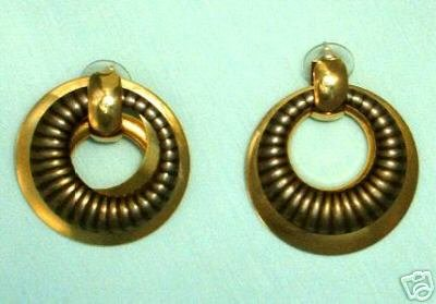 Egyptian-style Dangle Earrings Post Style Vintage Jewelry