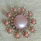 Pink Dress Clip AB Rhinestones Vintage Jewelry