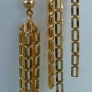 Gold Chain Dangle Earrings Post Style Jewelry
