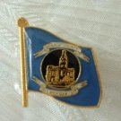 Monroe County Michigan MI Gold Enameled Tie Tac Lapel Pin