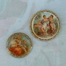 Two Victorian Style Brooches Pins Probably Germany Vintage Jewelry