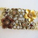 Sweet Romance STYLE Bracelet Rhinestones Floral Jewelry