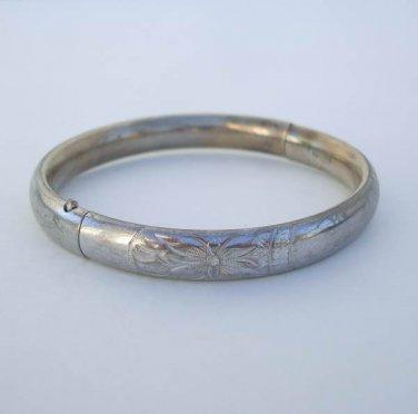 Barrows HF Sterling Silver Slider Bangle Bracelet Vintage Designer Jewelry
