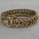 Herringbone Mesh Center Bracelet Safety Chain Vintage Jewelry