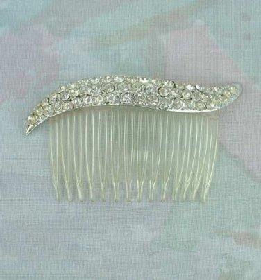 Two Hair Combs with Rhinestones Wedding Hair Jewelry