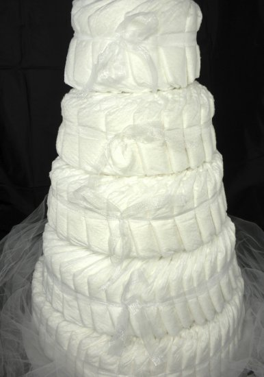 5 Tier Undecorated DIAPER CAKE DIY Baby Shower Gift Centerpiece