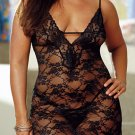 Plus Size Elegant Stretch Lace Baby Dolls Sz XL Code: PL6012