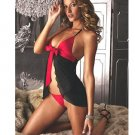 Dual color sexy babydoll with ribbon detail Code: JR2210