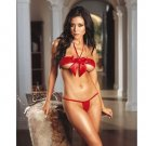 Satin Bow Open Cup Bra Top & Gstring Code: JR9018