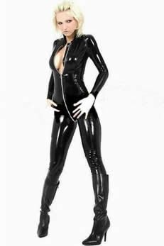 Sexy Wet Look Catsuit  Code: AM105 Sz Small