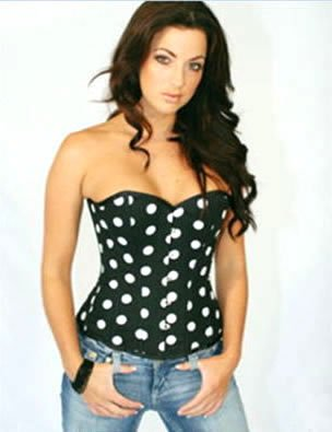 Sensual Polka Dot Corset  Sz Small Code: AM2607