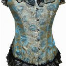 Lace Trimmed Floral Tapestry Boning Corset Sz Large Code: AE2631