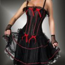 Lace Trimmed Overbust Boning Corset with Skirt Sz XLG Code: AM2670
