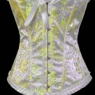 Satin Floral Print Corset with Scalloped Lace Trims Sz Medium Code: AM2692