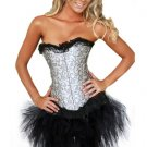Designer Brocade Corset with Tutu Lace Skirt SZ XL Code: AM2644A