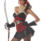 Sexy Lace Trim Bust Pirate Costume-Code: NH766