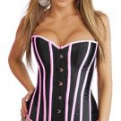 Victorian Satin Overbust Long Bone Corset Sz M Code: AM2721