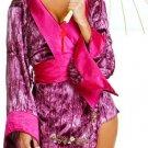 """Music Legs"" - Embroidered Geisha Kimono Sz S/M  30LS-S70158"