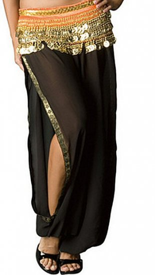Harem Pants with Embroidered Slits Sz L/XL 1260JP-W2095