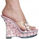 """Karo's 5"""" Clear/Baby Pink Flowers Style: 0555-Funo"""