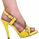 "Karo's 5"" Yela Nikki's Yellow Leather/Yellow Style: 0873"