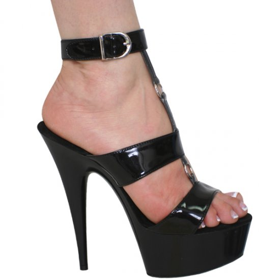 """Karo Black Patent/Black Style: 0611-6""""-6"""" Heel"""