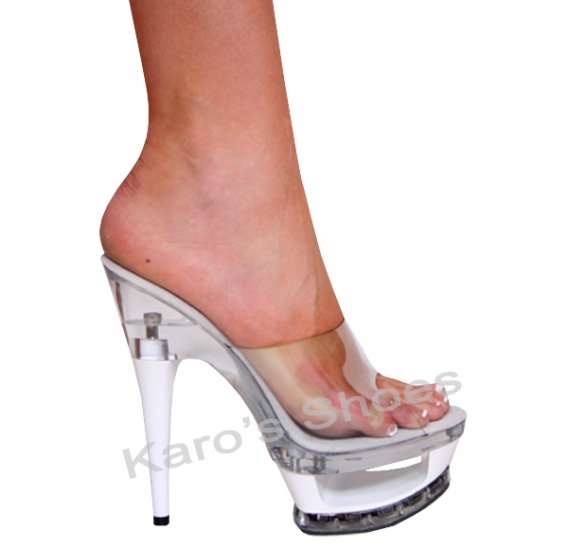 "Karo clear, 6"" elegant clear-white Style: 3259"