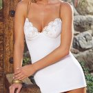 Dreamgirl - 2 Piece Microfiber Babydoll with Embroidered Eyelet Bodice Trim 3X/4X /1194L-D4288