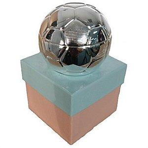 Silver Treasures - Silver Soccer Bank Engravable Keepsake