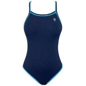 TYR Double Binding Reversible Swimsuit (Baby Blue & Navy) Girl Size: 26