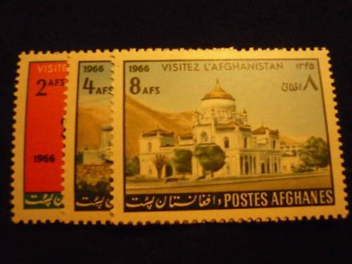 Afghanistan 736 - 738 MNH 1966