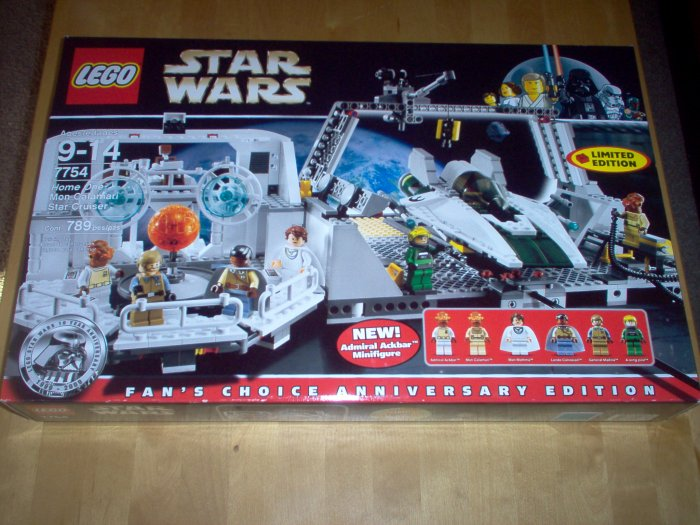 LEGO STAR WARS 7754 HOME ONE MON CLAMARI CRUISER NEW SEALED BOX