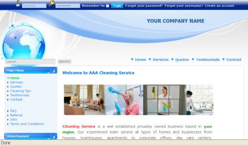 Cleaning Service Business Website