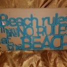 Beach Rules Word Art