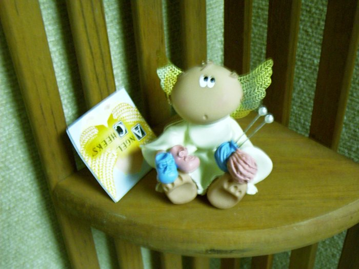 * Russ Berrie Angel Cheeks - Baby Collection - New Mom Knitting Baby Booties -- FREE USA SHIPPING!