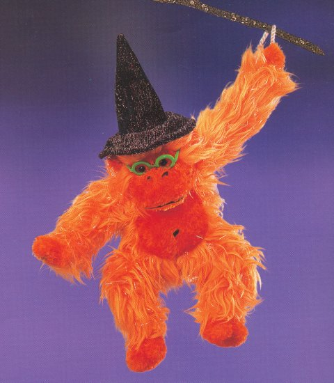 Russ Berrie Halloween Plush Orangutan - Jambo FREE USA SHIPPING!!!