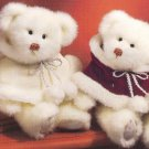 Russ Berrie Christmas - Bears from the Past - Sugar Plum Maroon Cape FREE USA SHIPPING!!!