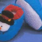 Russ Berrie Warm & Toasty Collection - Snowman Baby Booties FREE USA SHIPPING!