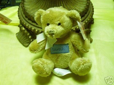 Russ Berrie With Love Bears Clip On - Personalized - Sarah  FREE USA SHIPPING!