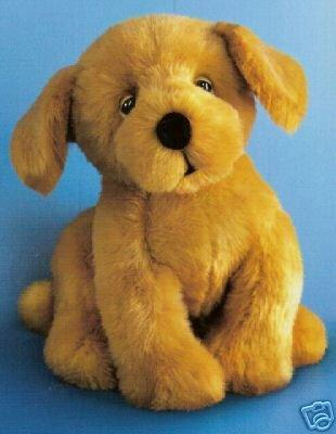 Russ Berrie Softies Plush Puppy - Banjo Golden Retriever  FREE USA SHIPPING!!!
