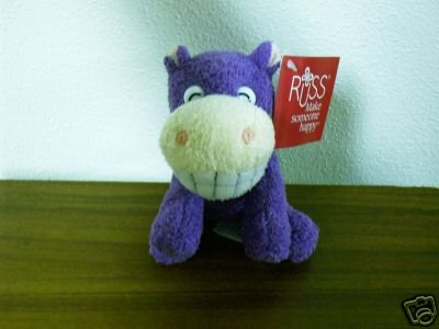 Russ Berrie Luv Pets - Grinnies - Plush Hippo --FREE USA SHIPPING