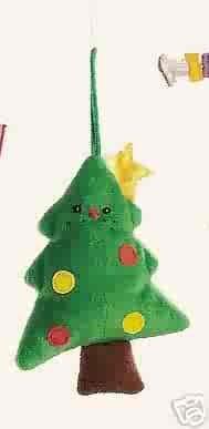 Russ Santa's Toyland Christmas Ornament - Plush Christmas Tree FREE USA SHIPPING