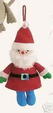 Russ Berrie Santa's Toyland Christmas Ornament - Plush Santa FREE USA SHIPPING!