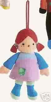 Russ Berrie Santa's Toyland Christmas Ornament - Plush Rag Doll FREE USA SHIPPING