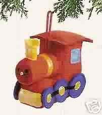 Russ Berrie Santa's Toyland Christmas Ornament - Plush Locomotive FREE USA SHIPPING