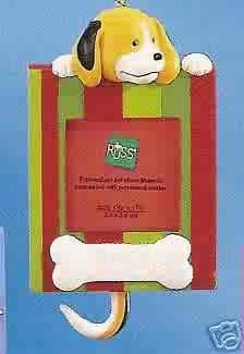 Russ Berrie Wags to Whiskers Christmas Ornament - Golden Dog Photo Frame FREE USA SHIPPING