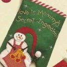 Russ Berrie Christmas Skribbles Oven Mitt Mommy's Secret Ingredient - Snowman FREE USA SHIPPING!