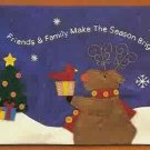 Russ Berrie Christmas - Moments of Wonder Reindeer Large Wall Hanging FREE USA SHIPPING