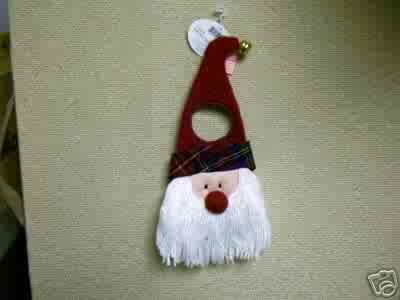 Russ Berrie Christmas - Moments of Wonder  Santa Face Doorknob Hanger FREE USA SHIPPING!